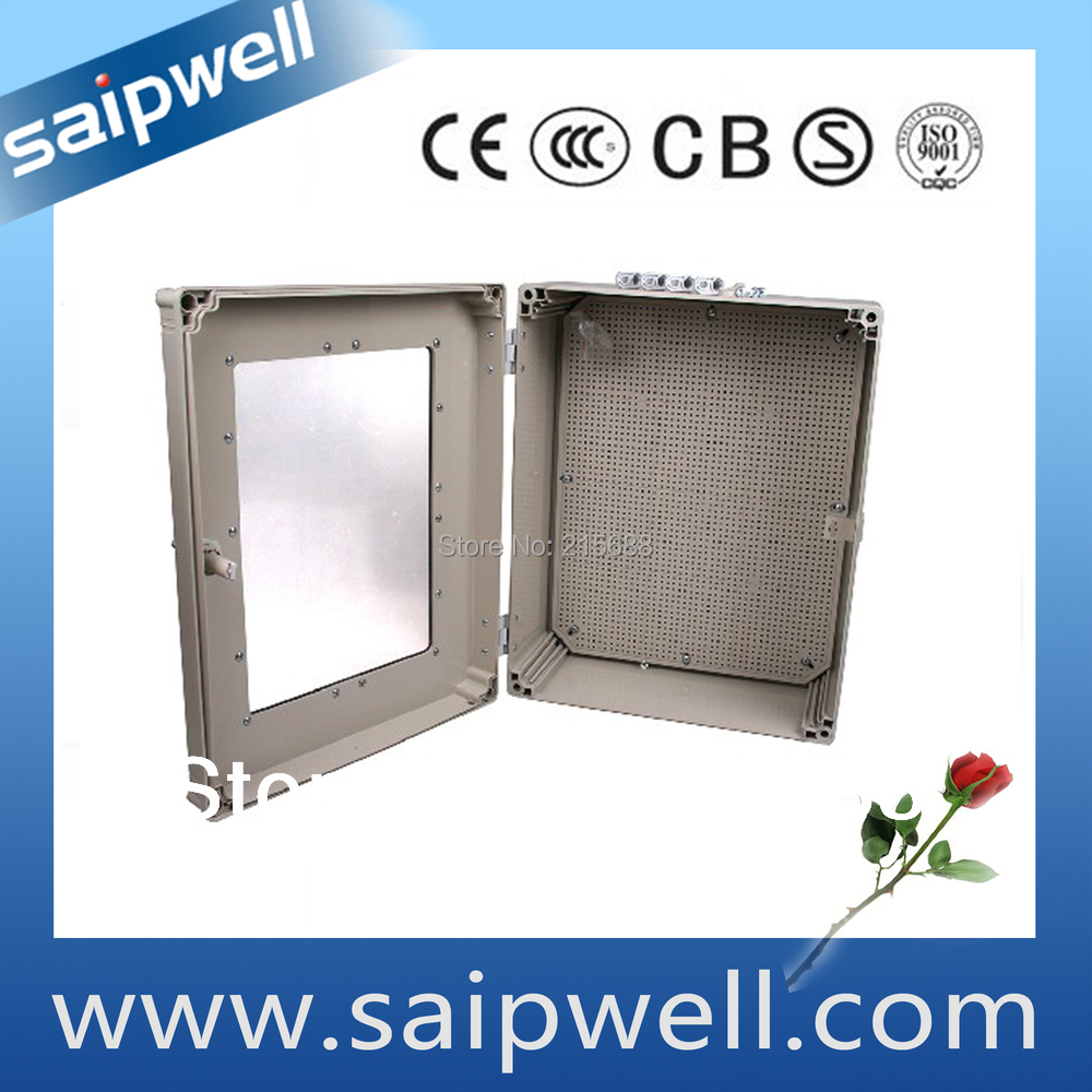 цены Plastic , Large Industrial Transparent Cover Waterproof Junction Box,500*400*195MM type SP-AT-504019