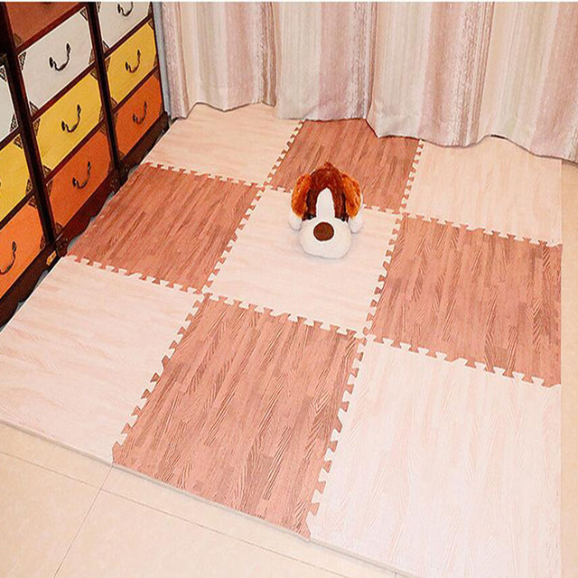 2017 Eva Foam Mats Child Puzzle Carpet Imitation Wood Bedroom Living Room Rugs Home Floor Mats