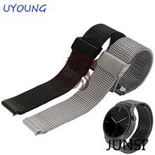 D'origine Argent Milanese Boucle Band & acier Inoxydable métal bracelet & Assurance fermoir sangle pour Huawei watch Bracelet