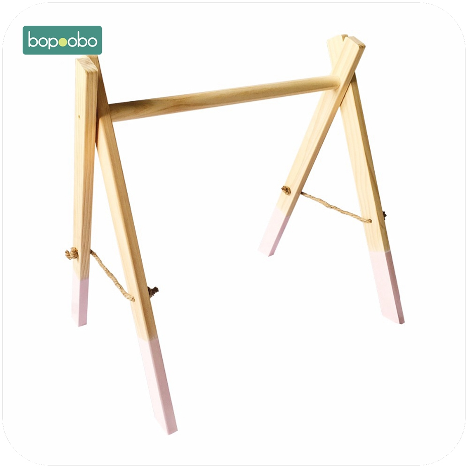 Image 5 - Bopoobo Classic Wooden Baby Gym Without Gym Toys Activity Gym Toy Accessories Montessori Rattles Nursery  Teether Shelf Portico-in Baby Teethers from Mother & Kids