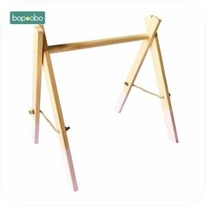 Image 5 - Bopoobo クラシック木製ベビージムジム活動ジムのおもちゃアクセサリーなしモンテッソーリガラガラ保育園おしゃぶり棚 portico