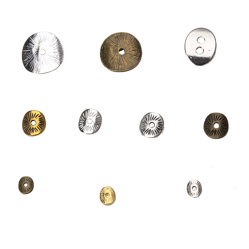 50pcs/lot Jewelry Making Accessories Zinc Alloy Spacer Beads DIY Jewelry Finding Components