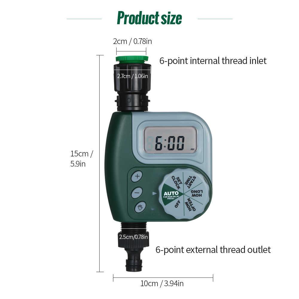 Otomatik Dijital Bahçe su zamanlayıcı Sulama Sulama Sistemi Kontrolörü Filtre ile G3/4 Otomobil Zamanlayıcı Açık Sulama Bahçe