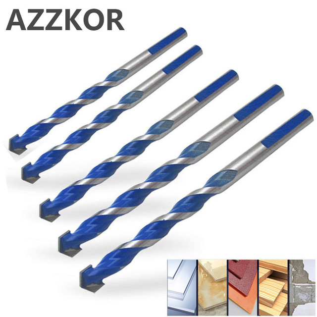 Triangle Drill Bit Tiling Cement Multi Purpose Ceramic Wall Glass Cement Hole Opener Stone Blue Cutter Nail Metal Drill 6-12mm