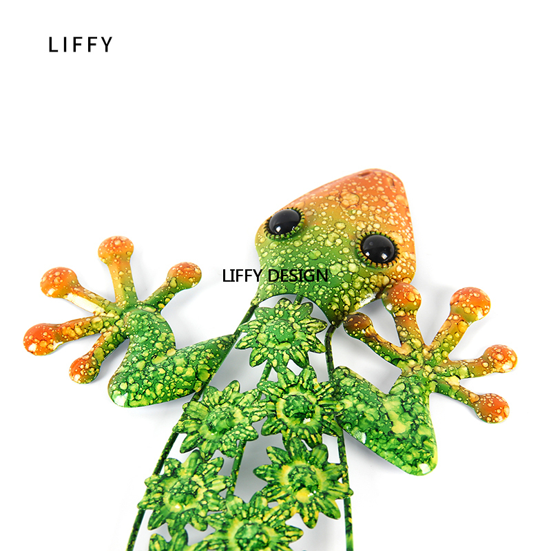 Image 3 - Liffy Metal Lizard Wall Decoration for Garden Outdoor Animal statues or Home Wall Decorative Sculpture-in Garden Statues & Sculptures from Home & Garden