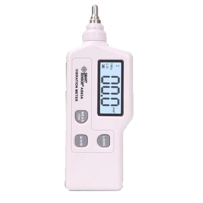portable vibration meter Smart Sensor AS63A , acceleration / displacement / velocity Vibration measurer analyzer vibrometer handheld vibration meter digital display speed acceleration displacement measurement