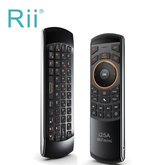 Новая Версия в Исходном Rii i25A 2.4 Г Мини Wirless Fly Air mouse клавиатура С Разъем Для Наушников Для ПК HTPC IPTV Smart Android TV коробка