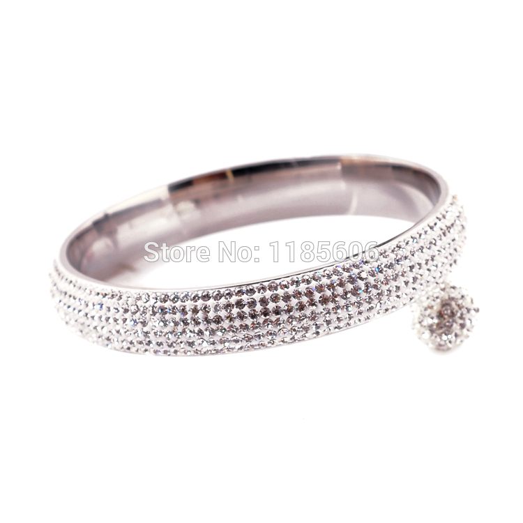 2014 New fashion Stainless Steel bangles & bracelets women luxurious paragraph clear Rhinestone Crystal Jewelry - CRYSTAL BEADS store