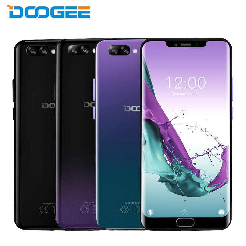 DOOGEE Y7 Plus téléphone portable 6.18 pouces 6GB RAM 64GB ROM MTK6757 Octa Core Android 8.1 double caméra 5080mAh Smartphone d'empreintes digitales