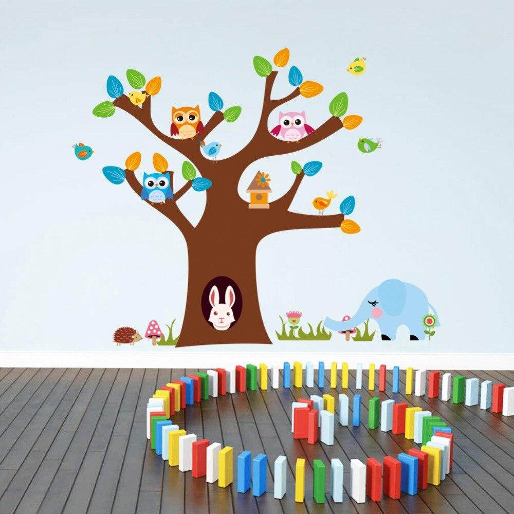 ✅Zy1022 * NUEVA CASA decoración búho árbol cuarto de niños ...