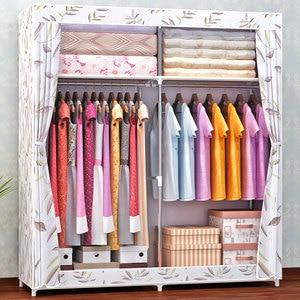 Image 4 - COSTWAY Cloth Wardrobe For clothes Fabric Folding Portable Closet Storage Cabinet Bedroom Home Furniture armario ropero muebles