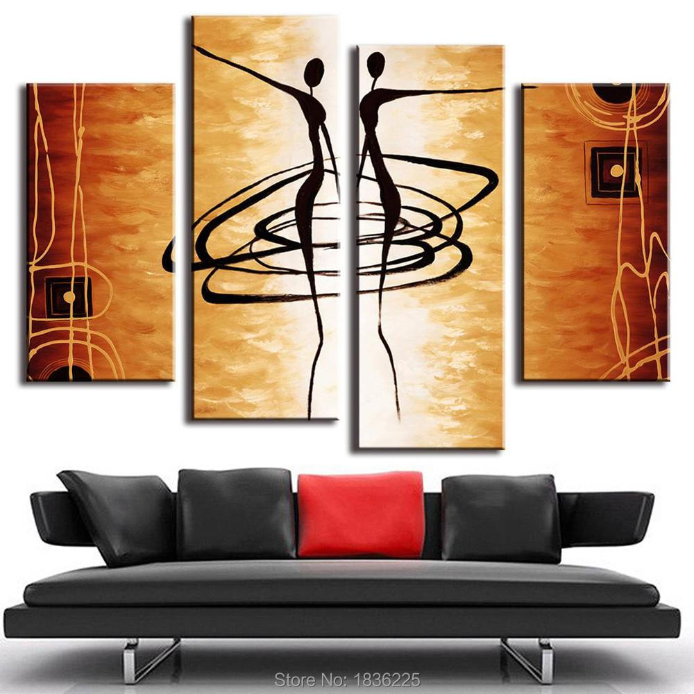 How to scrapbook canvas - 100 Handpainted Oil Painting Modern Paintings Scrapbook Canvas Wall Paper Modern 3 Panels Oil Painting Stickers For Home Decor In Painting Calligraphy