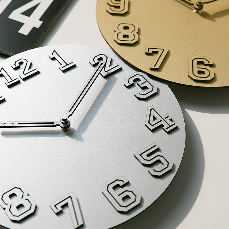 Mandelda Wall Clock Decorative Kitchen Clocks Pendule Murale Modern Design Watches