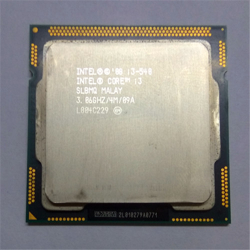 intel core i3 540 CPU LGA1156 socket /3.06GHz /L3 4MB /dual-Core processor TDP -73W /have a 1156 x3440 x3450 x3470