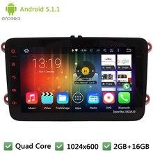 Quad core Android 5.1.1 Car DVD Player Stereo Radio For VW Sharan Touran Jetta Polo Tiguan Seat Altea Toledo Skoda Octavia Fabia