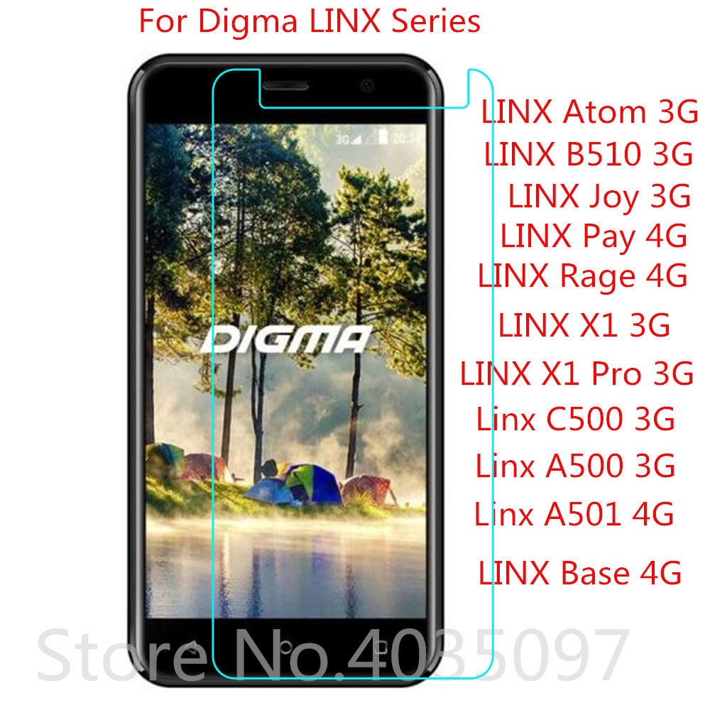 Tempered Glass for <font><b>Digma</b></font> <font><b>LINX</b></font> Atom B510 JOY Pay Rage X1 Pro c500 <font><b>a501</b></font> a500 3G 4G Screen Protector Film Protective Screen Cover image