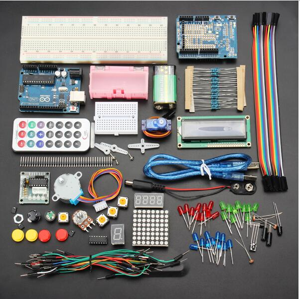 Free Shipping Facotry Price UNO Basic Starter Learning Kit Upgrade Version For Arduino geekcreit™ uno basic starter learning kit upgrade version for arduino