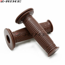 Universal 7/8 22MM Vintage rubber Motorcycle handle grips coffee Motorbike handlebar 8 Colors Available