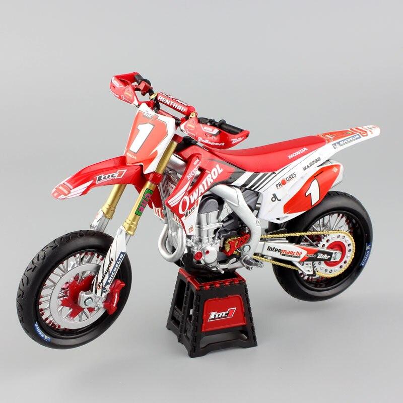 1:12 mini échelle HONDA Motocross HRC RUSTOL CRF450R CRF450 SUPERMOTO LUC1 Moto Moulé Sous Pression modèle racing sport dirt bike jouets