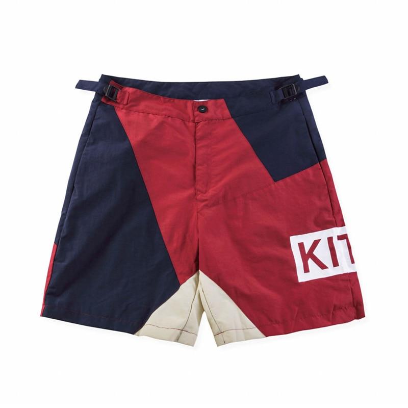 Kith 2018 men women short pants kanye west fear of god justin bieber loose hip hop summer Streetwear harem shorts casual pants