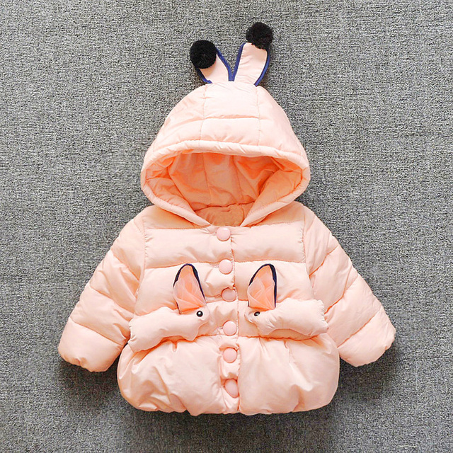 Polar Cotoon Bebé Niñas Abrigo de Invierno Recién Nacido Ropa Snowsuit Roupas Infantis Menina Hoodie Niños Ropa Niños 60Z048 Dimond