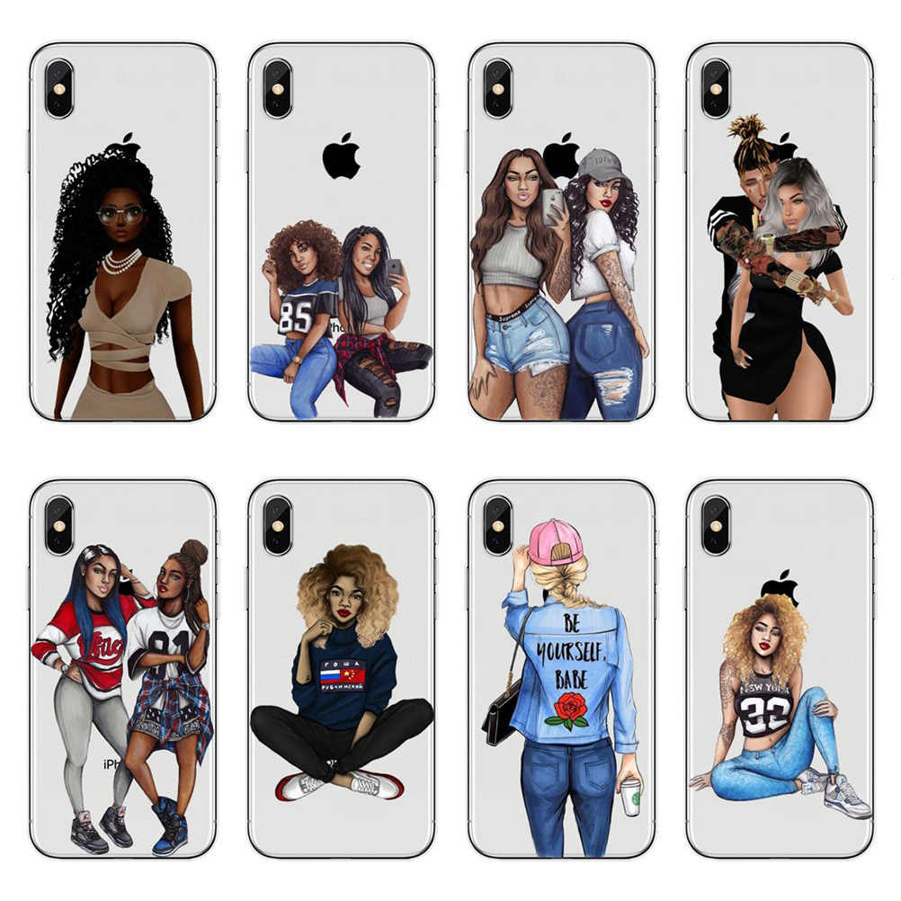 Fashion swag black girl drawing Case For iPhone XS XS Max 6.5 ...