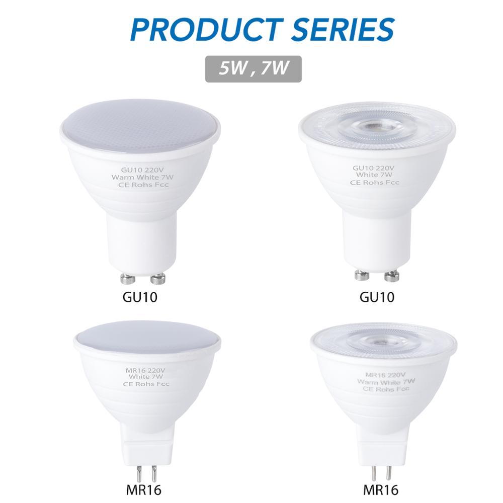 Bulb GU10 LED Lamp 220V Spotlight Bulbs 6 12 Leds Lampara Led 240V GU 10 Bombillas Led MR16 Gu5.3 Lampada Spot Light 5W 7W Ampul