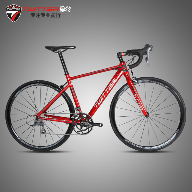 2018 TWITTER Road Bike 700C*23C Aluminium Alloy Frame and Fork 16 Speed 22 Speed Aero Racing Bicycle 46/48/50/52cm Height Frame eurobike 21 speed steel frame aluminium alloy rim 700c road complete racing bike page 2