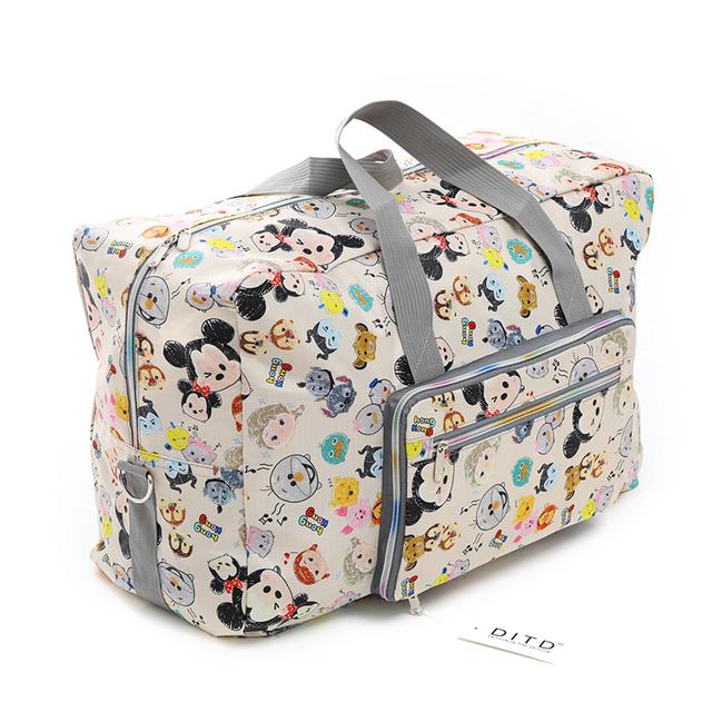 Foldable Travel Bag Women Large Capacity Portable Shoulder Duffel