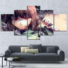 5 Pieces Cartoon Pictures UNDERTALE Chara Video Game Poster Decorative Wall Painting for Living Room Decor консоль chara