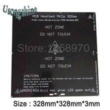 1 шт. MK2A 300*300*3.0 мм RepRap ПЛАТФОРМЫ 1.4 печатной платы Алюминий Heatbed плита mendel для 3D-принтеры На линейный руководство