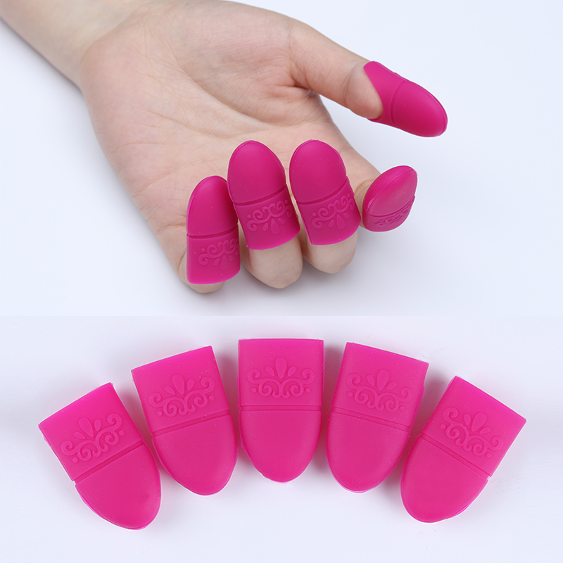 5 Pcs Nail Art Soak Off Cap Clip Gel Remover Soak Off Cap Silicone Soaker Caps Cover Tip Cleaner Removal Tools