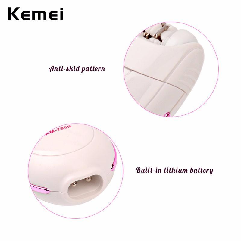 Kemei Professional Lady Depilacion Epilator Hair Remover Electric Female Depilatory for Women Leg Full Body Use Beauty Tools 22