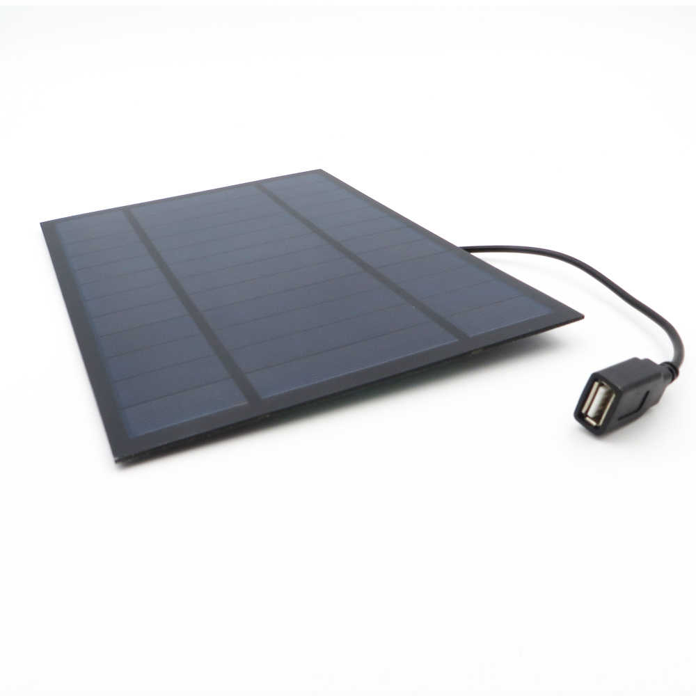 Solar Panel Charger 6V 6W Polycrystalline Solar Cell DIY Solar Charge Battery cable 30cm 5V USB output Solar Panel 6VDC