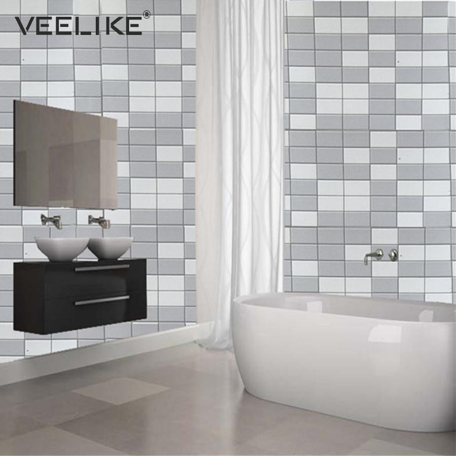 Kitchen Bathroom Toilet Waterproof PVC Self Adhesive Wallpaper DIY ...