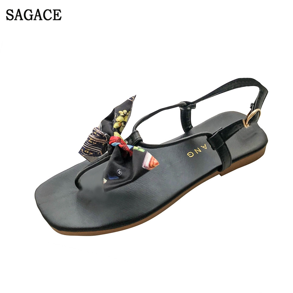 SAGACE New Fashion Women Summer Sandals Butterfly-knot Flat-soled Square Toe Shoes Sexy High Quality Outsid Ladies ShoesSAGACE New Fashion Women Summer Sandals Butterfly-knot Flat-soled Square Toe Shoes Sexy High Quality Outsid Ladies Shoes