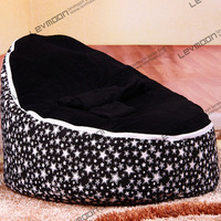 FREE SHIPPING baby bean bag cover with 2pcs black up cover baby bean bag seat cover baby bean bag chair kids sofa lazy chair