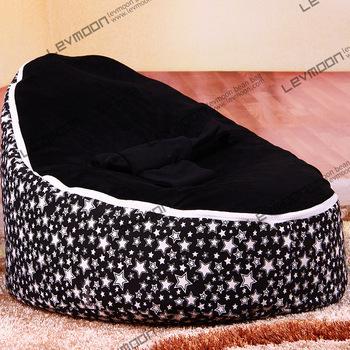 FRETE GRÁTIS feijão bebê tampa saco com 2 pcs preto up cover bebê tampa de assento do saco de feijão cadeira do saco de feijão bebê crianças cadeira sofá preguiçoso
