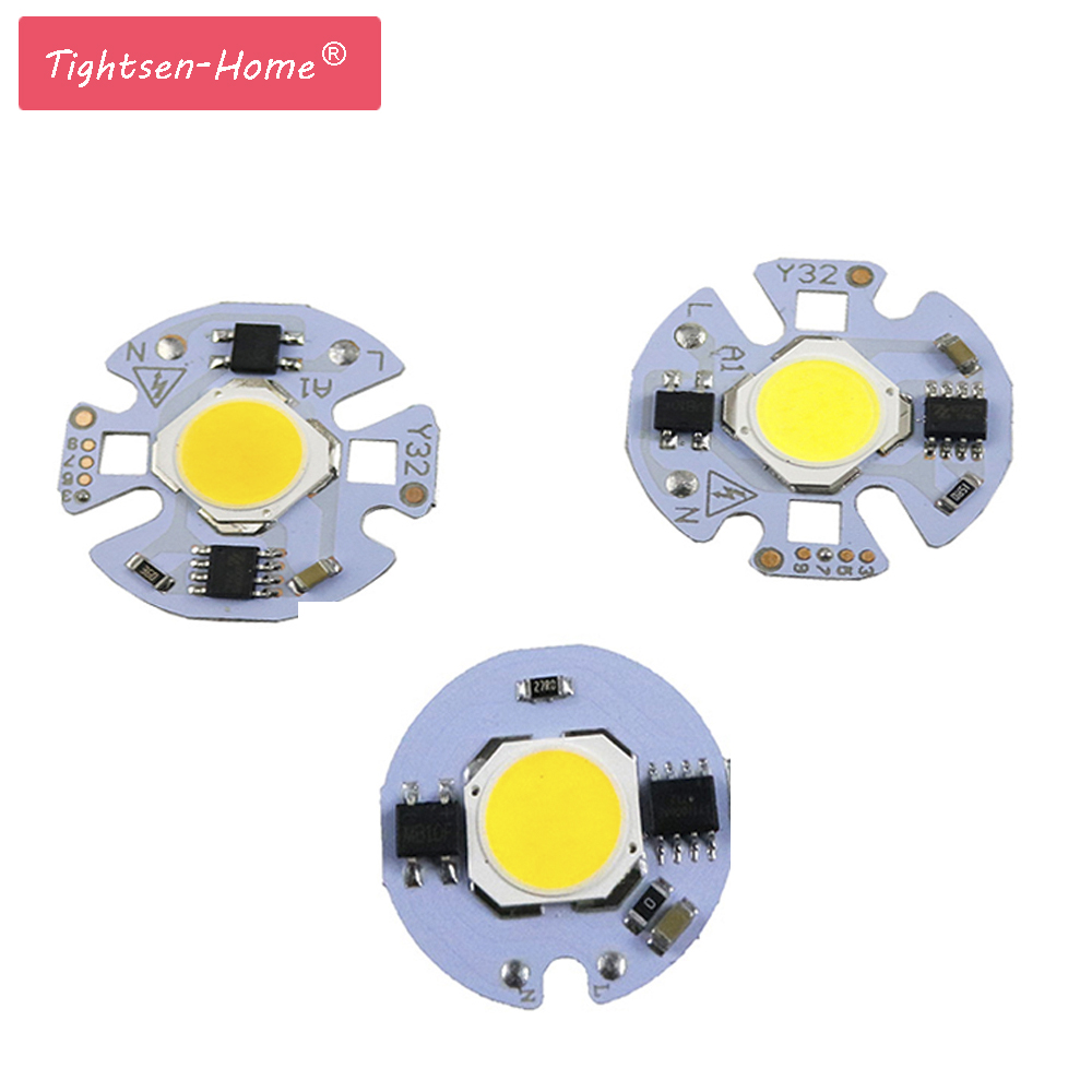 27mm 32mm COB Chip 5W 7W 3W 9W AC 220V 110V No need Smart IC driver Smart IC White bulb lamp For DIY LED Floodlight Spotlight [mingben] 5pcs led cob chip 18w 15w 12w 9w 7w 5w 3w ac 220v smart ic light high lumen chip for bulb diy led spotlight light bead