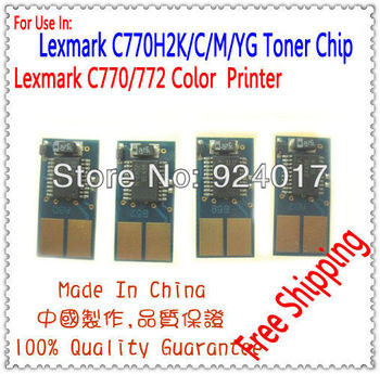 Compatible Lexmark C770 C772 Toner Chip,Toner Reset Chip For Lexmark C772 C772n C772dn C772dtn C770 C770n C770dn C770dtn Printer