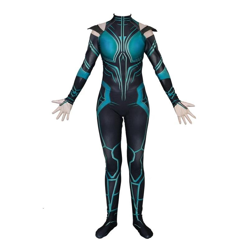 FOGIMOYA Halloween Thor Ragnarok Hela Cosplay Costume Zentai Bodysuit Suit Jumpsuits