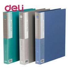 Deli 1pcs document folder presentation report clip file folder A4 convenient double-hole double perforation plastic folder 5384