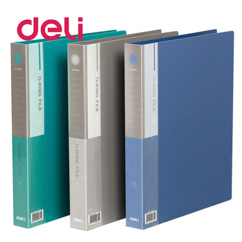 Deli 1pcs document folder presentation report clip file folder A4 convenient double-hole double perforation plastic folder 5384 a4 clip file solid color black and white impression plastic plate and metal folder for documents folder hard and unbendable