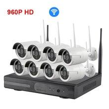 8CH HD Wireless NVR Kit 960P 1.3MP WIFI CCTV  house cameras