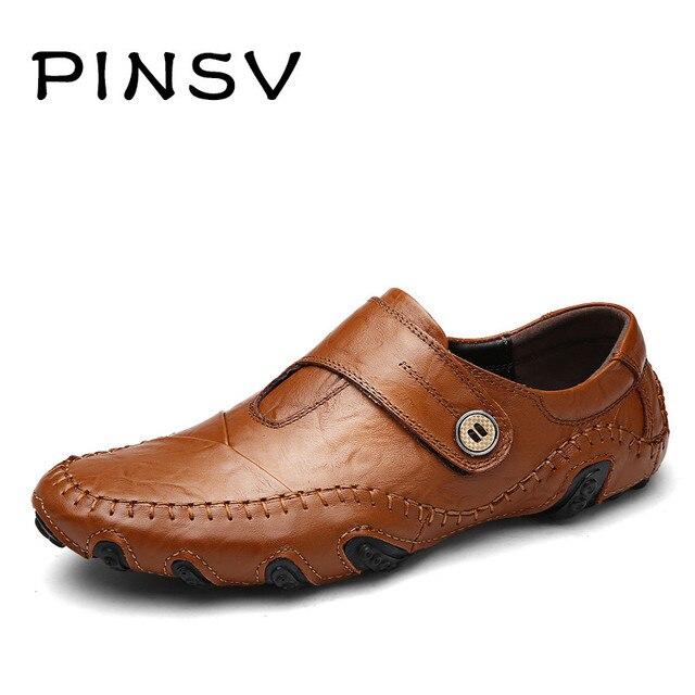 1f0c7829f90 Split En Cuir Chaussures Hommes Chaussures D hiver Noir Mocassin Hommes  Appartements Chaussures Hommes Mocassins