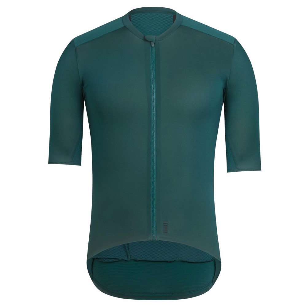 2018 Dark Green Top Quality PRO TEAM AERO CYCLING Jerseys Short sleeve Bicycle Gear race fit cut fast speed road bicycle jersey top quality racing cycling club pink stripe cycling jerseys pro team tight fit long sleeve cycling clothing bicycle shirt