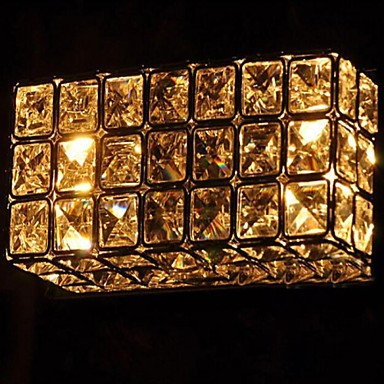 Lustre 6W K9 Crystal Modern LED Wall Lamps Light With 2 Lights  For Home Lighting,Lustres Wall Sconce Free Shipping free shipping europe gold alloy led crystal sconce lamp indoor wall lamps with 1 lights 2 lights for bedroom lighting 962 1 2