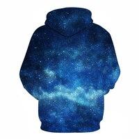 Hoodiesผู้ชายผู้หญิง3Dพื้นที่เสื้อคลุมด้วยผ้าบลูกาแล็กซี่ชายT Racksuitsแฟชั่น