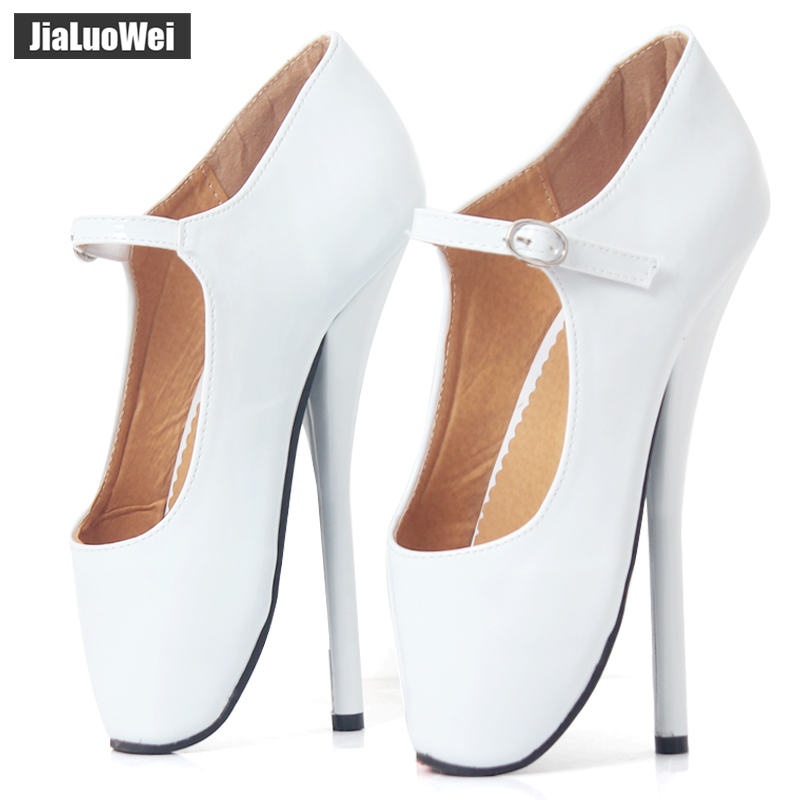 5fbb463dbd95 brand new 8 sexy ballet high heels shoes high spike heel fetish sexy ballet  dancer pointe toe ankle straps pumps plus size
