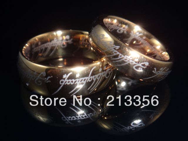 Free Shipping!Wholesales Price!USA Hot Selling Women&Men's Gold/Silver/Black Tungsten Wedding Pair Rings The LOTR LORD OF RINGs